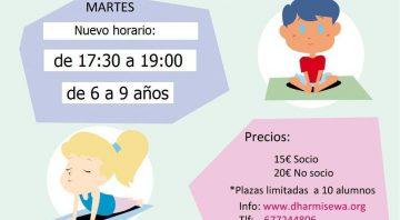 Nuevo horario de Yoga para niñas y niños en Coslada