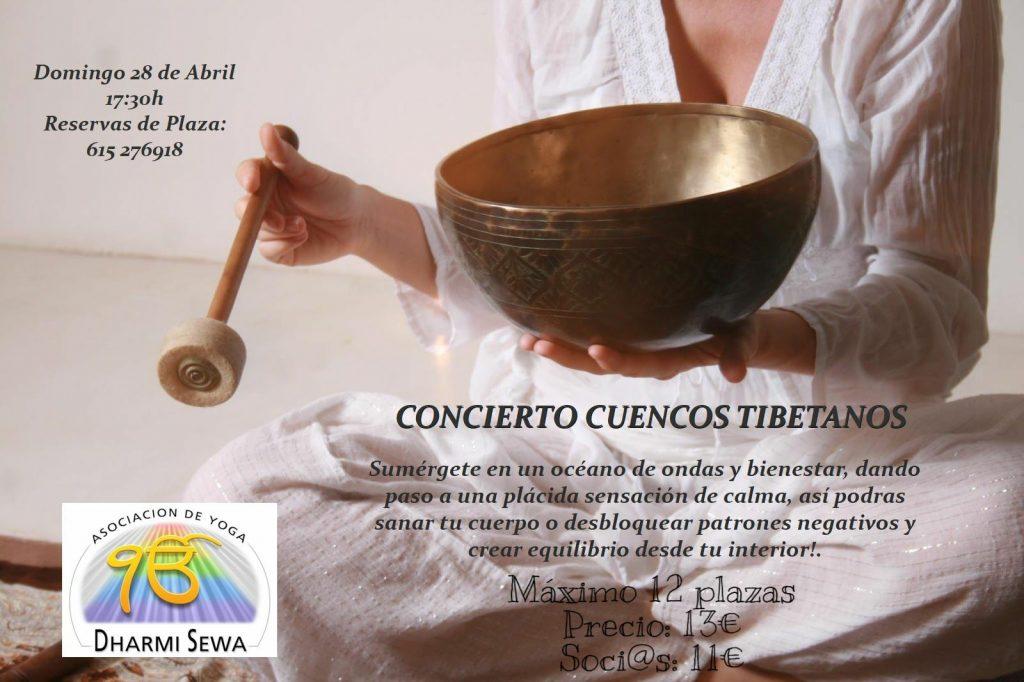 Cuencos tibetanos el 28 de abril