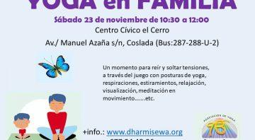 Yoga en Familia el 23 de noviembre